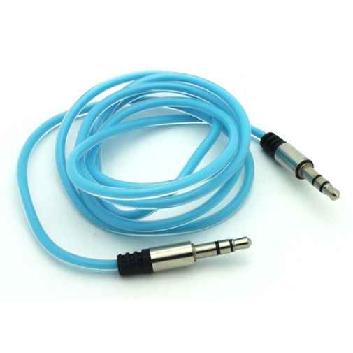 Blue Aux Cable Car Stereo Wire Audio Speaker Cord 3.5mm Jack Adapter Auxiliary B5 for iPhone 6 Plus 6S Plus SE - Google Pixel XL - HTC 10 - Huawei P10 P9 - LG G Pad 10.1 7.0 8.0 8.3 F 8.0 X8.3, G5 G6