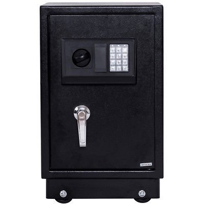 Gymax Electronic Password Safe Box With Key Cash Jewelry Gun Security Locker - image 7 de 7