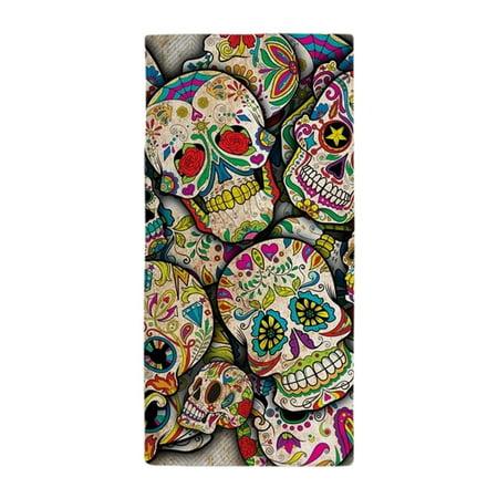 CafePress - Sugar Skull Collage - Large Beach Towel, Soft 30