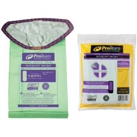 ProTeam 107314 6 Quart Intercept Micro Filter Bag with Open Collar for ProTeam Triangular Vacuum Cleaners - Pack of 10