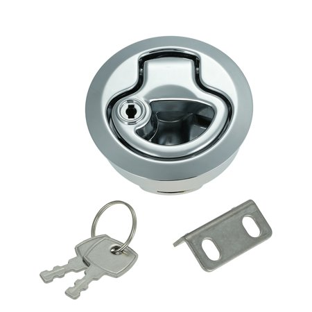 Flush Pull Slam Latch Hatch with Lock 1/2 Inch Door for RV Marine Boat
