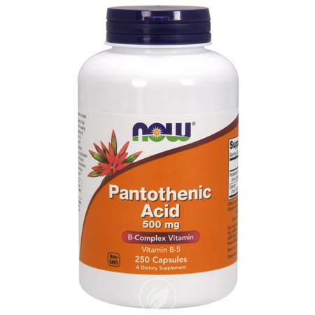 Now Foods, Pantothenic Acid, 500 mg, 250 Capsules , Pack of 2