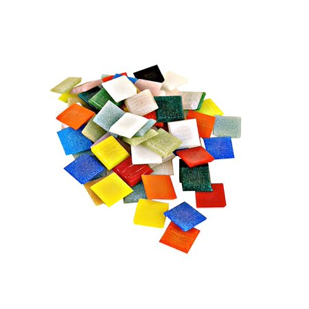 Vitreous Glass Mosaic (Solid Color Vitreous Glass Mosaic Tile Atlantic, 3/8 in., 1/6 lb. bag (pack of 6) )