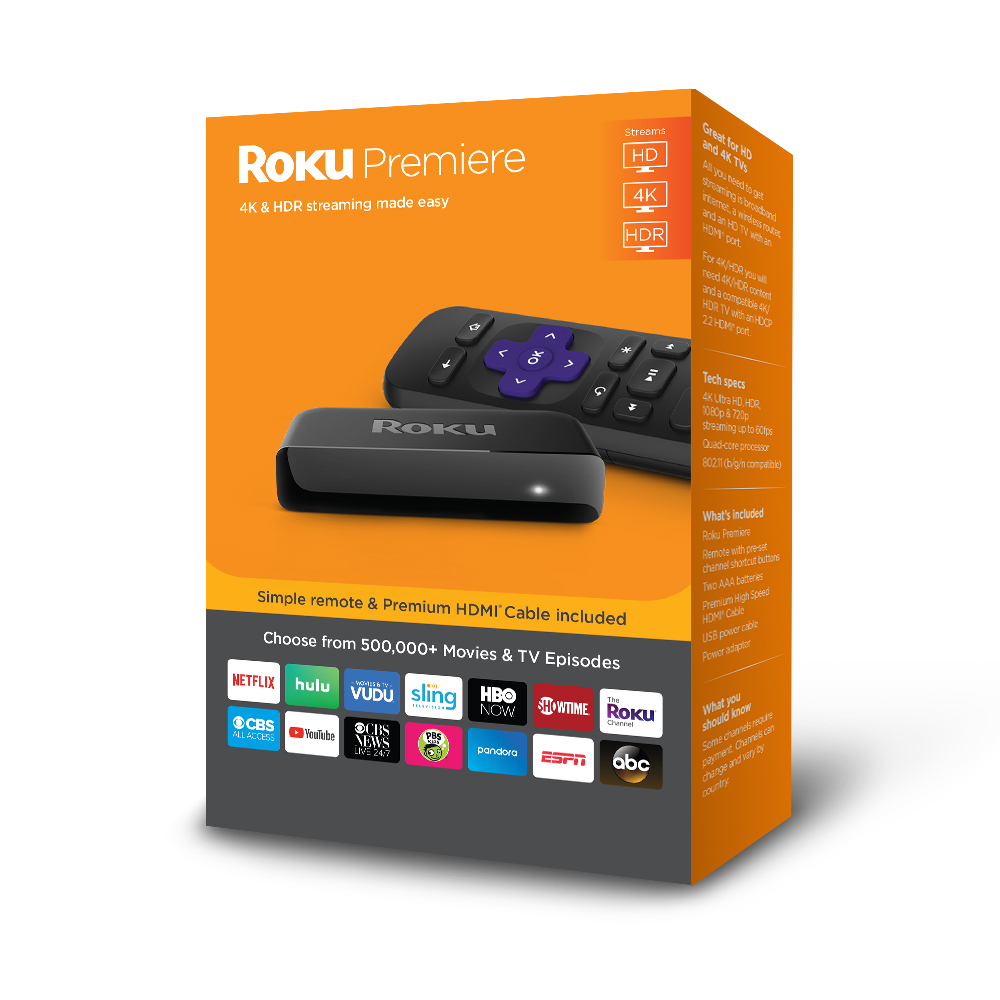 Roku Premiere Streaming Player NEW 2018 - WITH $35 CREDIT TOWARDS SLING TV AND 30-DAY FREE TRIAL OF SHOWTIME