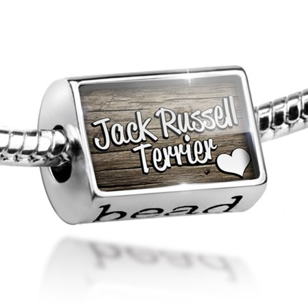 Bead Jack Russell Terrier, Dog Breed England Charm Fits All European - Jack Russell Terrier Dog Charm