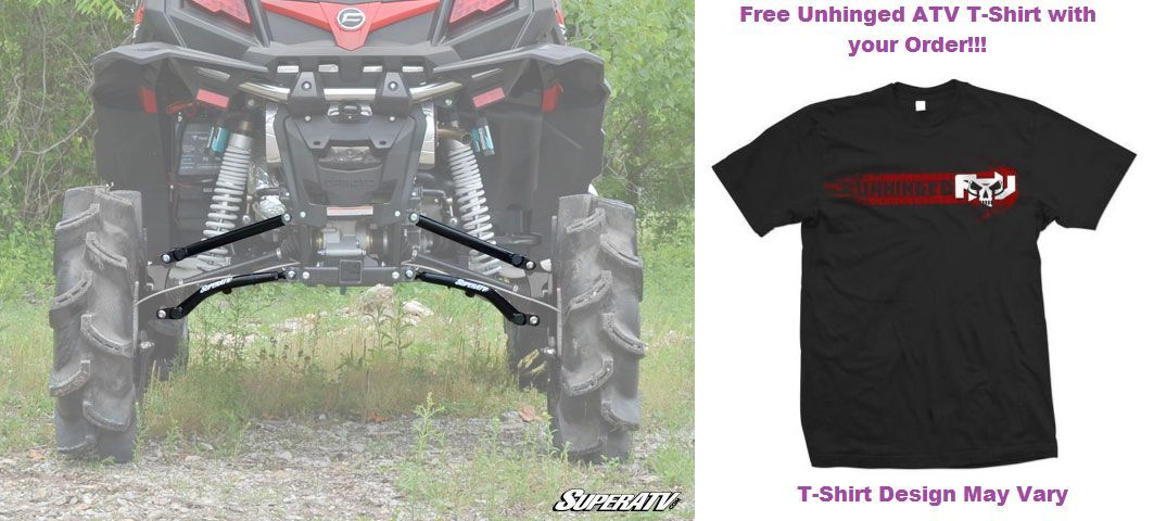 SuperATV CFMOTO ZForce High Clearance Rear Offset A-Arms with FREE T-SHIRT!