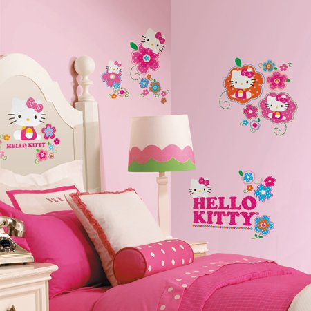 Hello Kitty   Floral Boutique Peel   Stick Wall Decals