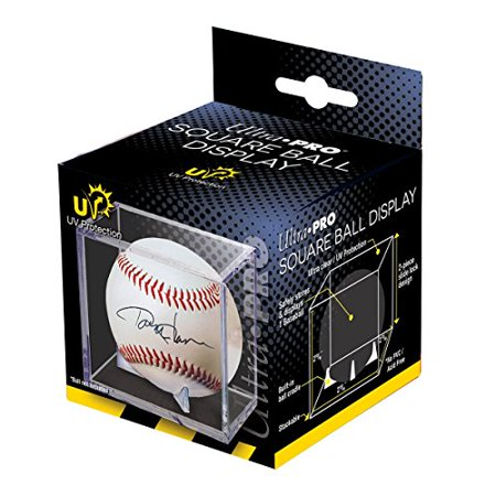 2 Ultra Pro Square Baseball Display Holder w/Stand UV Protection New Lot Set (2 Baseball Cubes) - image 1 of 1