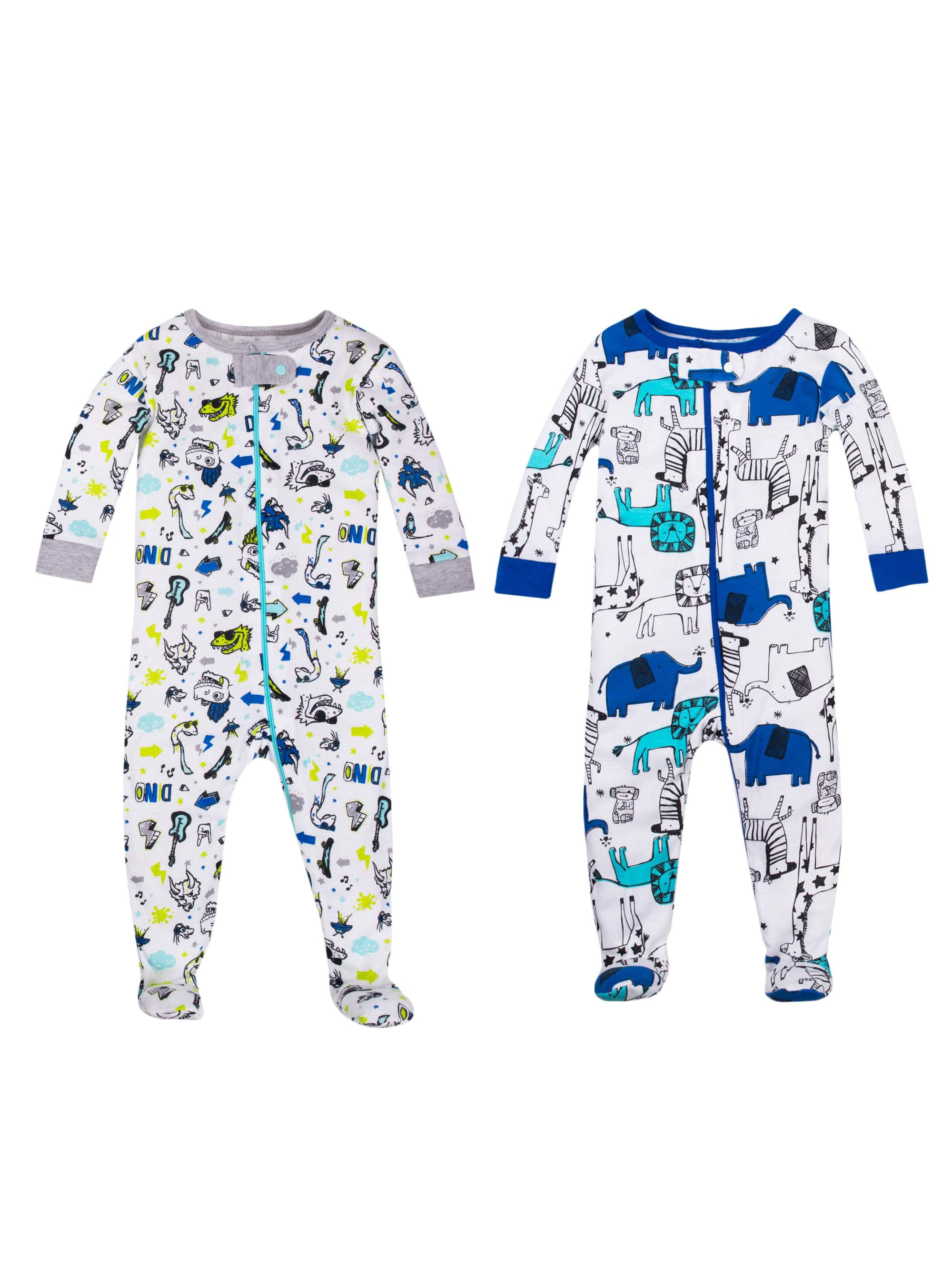 3710431de6ef Little Star Organic - 100% Organic Cotton Footed Stretchies Pajamas ...
