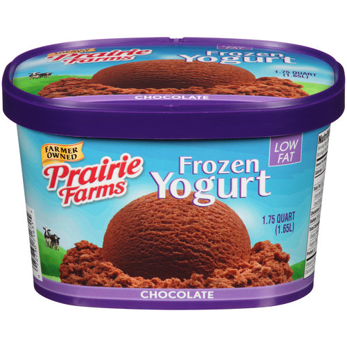 Prairie Farms Chocolate Frozen Yogurt, 1.75 qt
