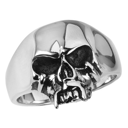 Stainless Steel Jawless Skull Ring (Available in Sizes 10 to 14) size 11 - Plastic Skull Rings