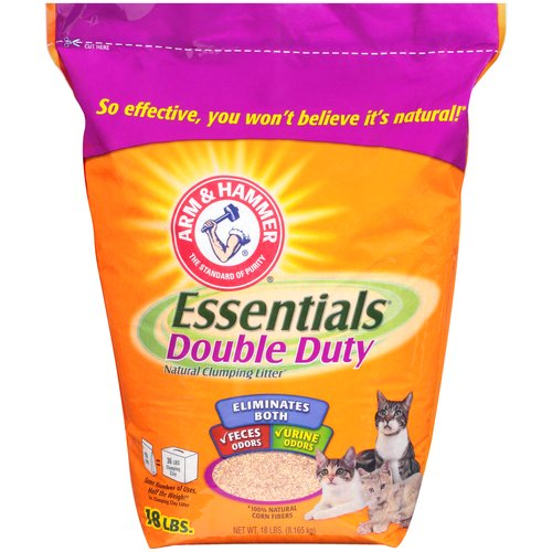 Arm & Hammer Essentials Double Duty Natural Clumping Cat Litter, 18 Lb
