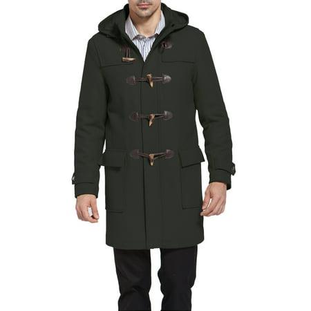 BGSD Mens Benjamin Wool Blend Classic Duffle Coat