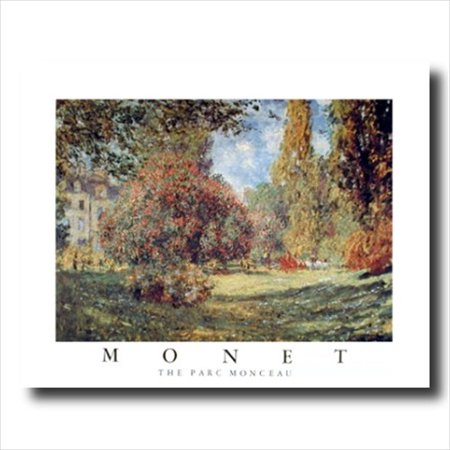 Monet French Park Landscape Wall Picture Art Print