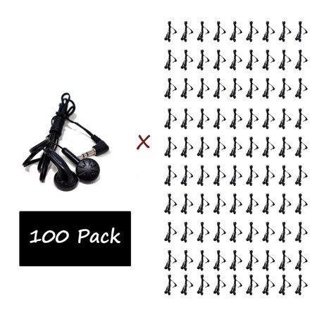 100 Pack - Everyday Wholesale Earbuds Bundle Bulk in-Ear