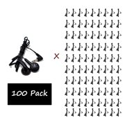 100 Pack - Everyday Wholesale Earbuds Bundle Bulk in-Ear Earphones