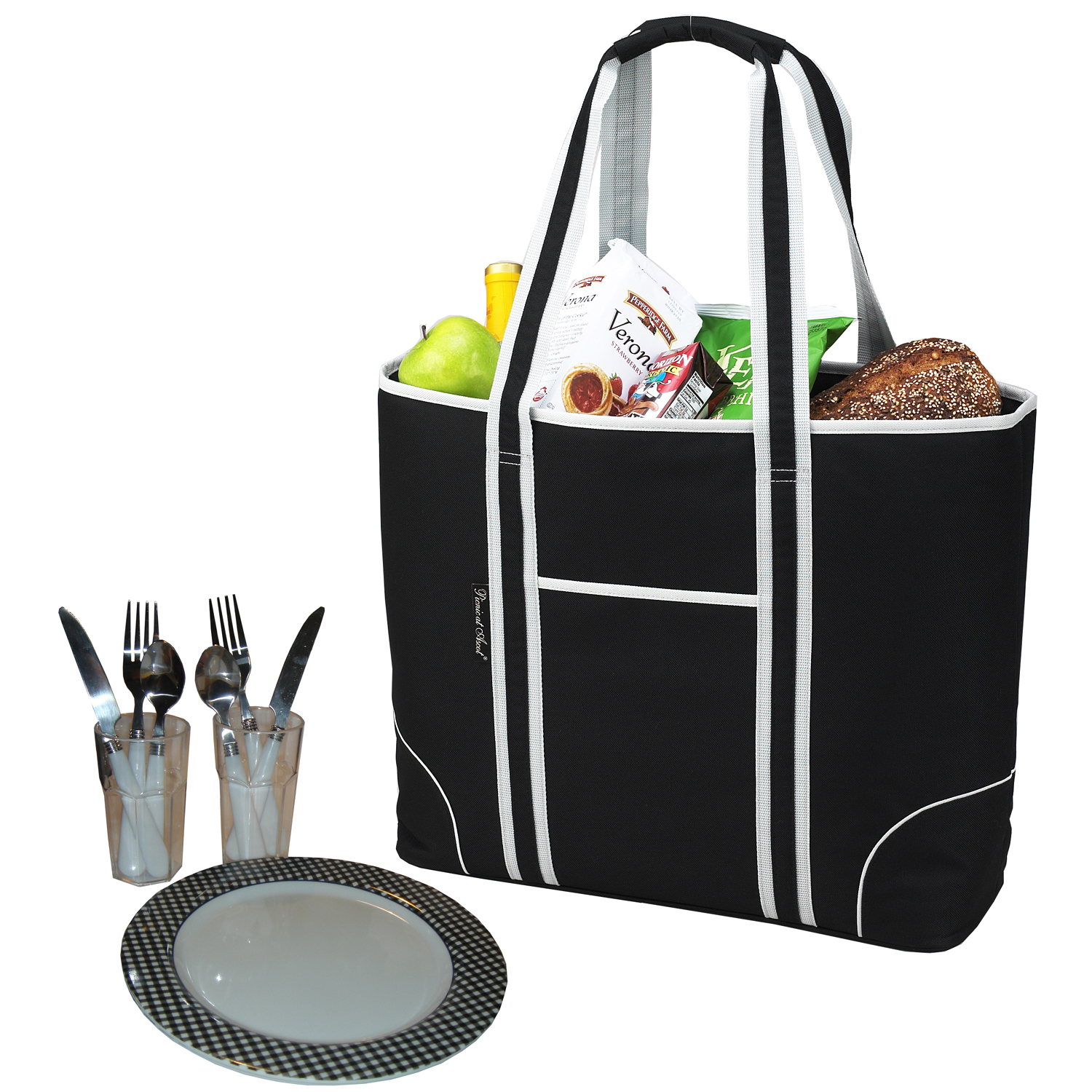 Picnic at Ascot Bold Insulated Picnic Tote for 2 (423-BLK)