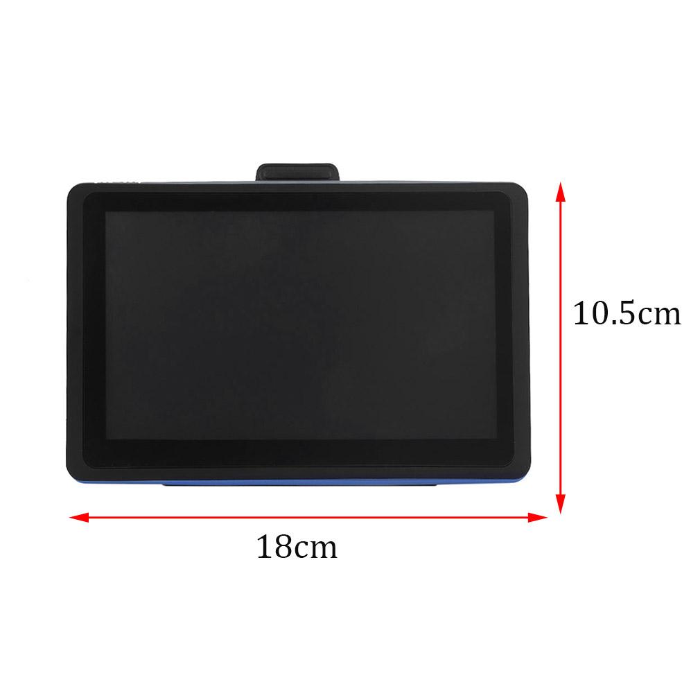 2017 7 Inch HD Capacitive Screen Car GPS Navigation 8GB Support Multilanguage 718