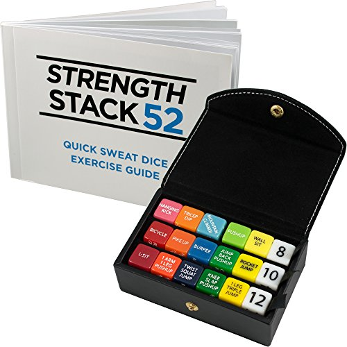 Fitness Dice Box Set (Black) by Strength Stack 52. Bodyweight Exercise Workout Game. Designed by a Military... by Stack 52
