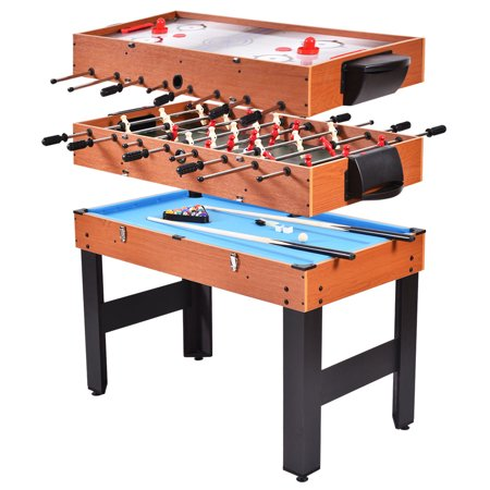 Costway 48 39 39 3 in 1 multi combo game table foosball soccer billiards - Table multi jeux 5 en 1 ...