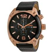Diesel Men's Overflow DZ4297 Black Leather Quartz Fashion Watch