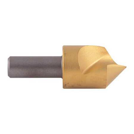 KEO 55413-TiN Countersink, 1 FL, 82 Deg, 3 16, Cobalt, TiN by KEO