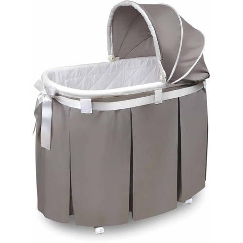 Badger Basket Wishes Oval Bassinet, Gray by Badger Basket