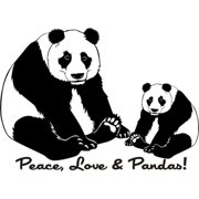Design on Style  'Peace Love and Pandas' Vinyl Art Quote