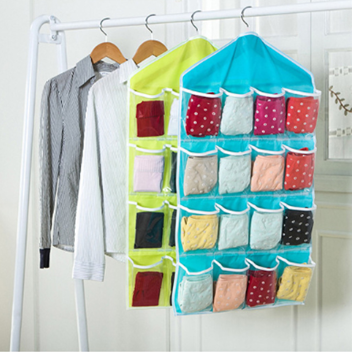 Exceptionnel 16 Pockets Home Clear Over Door Hanging Bag Space Saving Shoe Organizer  Rack Underwear Socks Bra