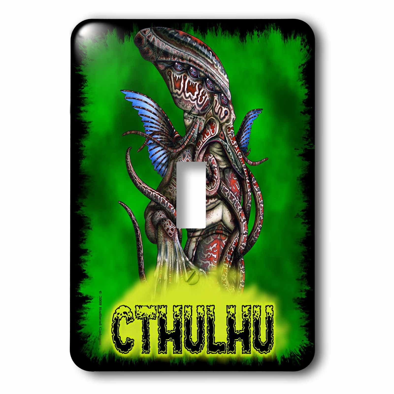 3dRose Cthulhu Lovecraft Mythos Elder God Horror Art, 2 Plug Outlet Cover