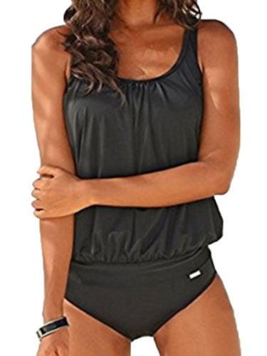 Vintage Women Tankini Set Swimwear Swimsuit Beach Wear Bathing Suit Plus Size