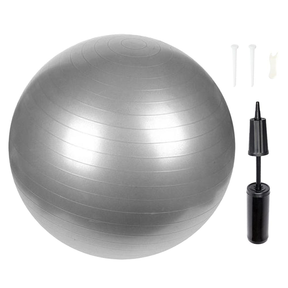 Ktaxon 65cm Fitness Balance Stability Ball for  Gym Sports Yoga Exercise, Silver