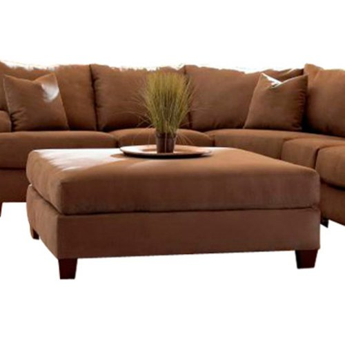 Klaussner E64863 Canyon Ottoman - Chocolate