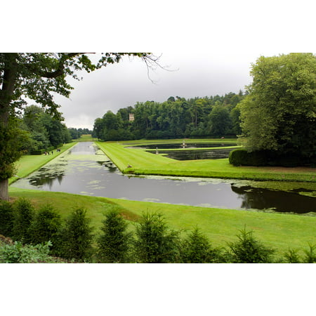 Laminated Poster National Treust Water Gardens Fountains Abbey Poster Print 24 X 36