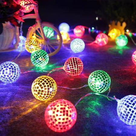 String Lights Moroccan Ball 20LED Globe Fairy String Orb Lantern Patio](String Lanterns)