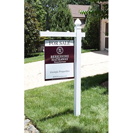 Vinyl PVC Real Estate Sign Post - White - 6' Tall -