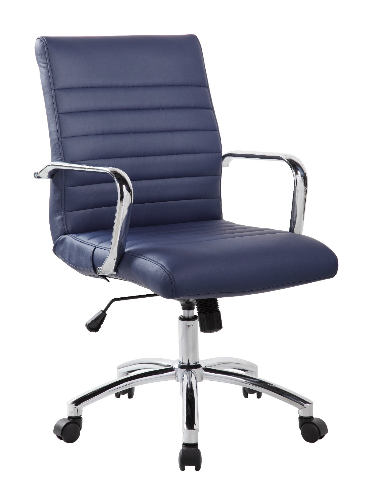 RealBiz Mid-Back Ribbed Faux Leather Office Chair