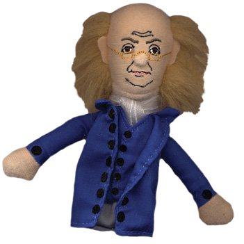 Benjamin Franklin Finger Puppet and Refrigerator Magnet
