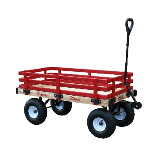 Millside Industries MDW 16 inch x 34 inch Classic All Wood Express Wagon with 4 inch x 10 inch Tire