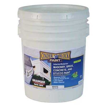 masonry & stucco paint,white,5 gal. rae (Stucco White Finish)