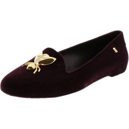 Melissa Womens Virtue Special Ii Bordeaux Flocked Ankle High Rubber Flat Shoe   9M