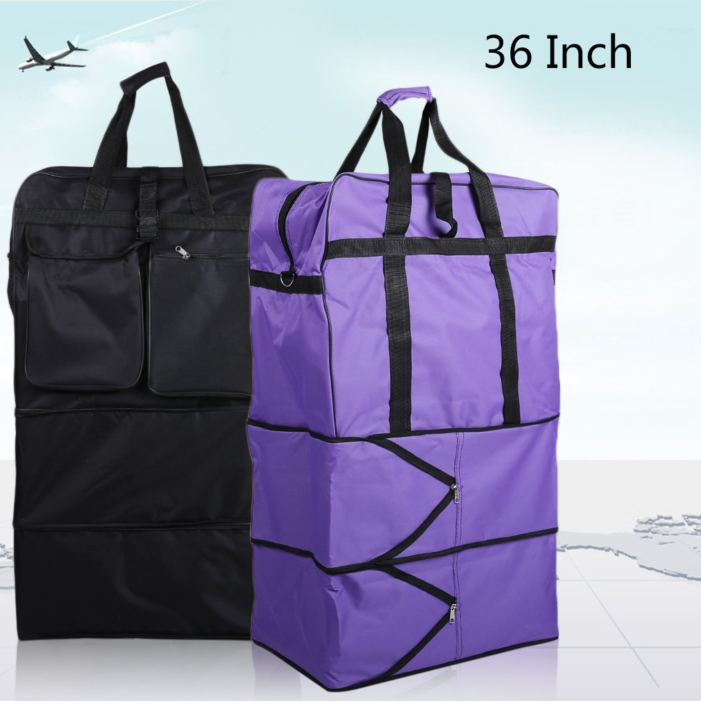 2017 New 36 Inch Expandable Rolling Bag Wheeled Suitcase Luggage Case With Wheels Rolling Bags Travel Carry On Luggage Bags Purple