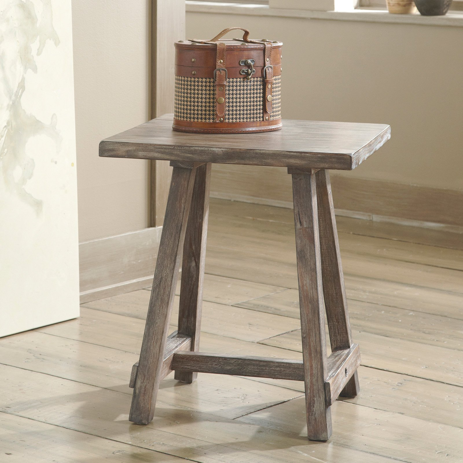 Signature Design By Ashley Rustic Accents Brown Chair Side End Table Walmart Com