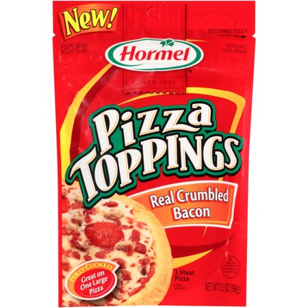 (2 Pack) Hormel Pizza Toppings Real Crumbled Bacon, 3.5 -