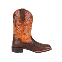 Noble 65026-132 Mens All Around Cowboy Brown Pumpkin Boot 9.5 E US
