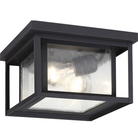 - Sea Gull Lighting 78027 Hunnington 2 Light Outdoor Flush Mount Ceiling Fixture