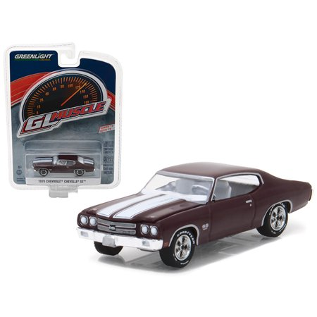 1970 Chevrolet Chevelle Ss 454 Black Cherry Greenlight Muscle Series 19 1 64 Diecast Model Car By Greenlight