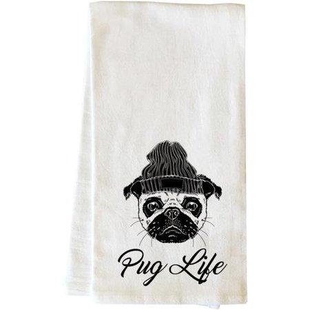 One Bella Casa 82869TW Pug Life Beanie Tea Towel - Black - Walmart.com c148e15ff3c