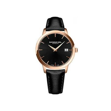 Raymond Weil Women's 34mm Black Satin Band Steel Case Swiss Quartz Analog Watch (The Best Luxury Watches)