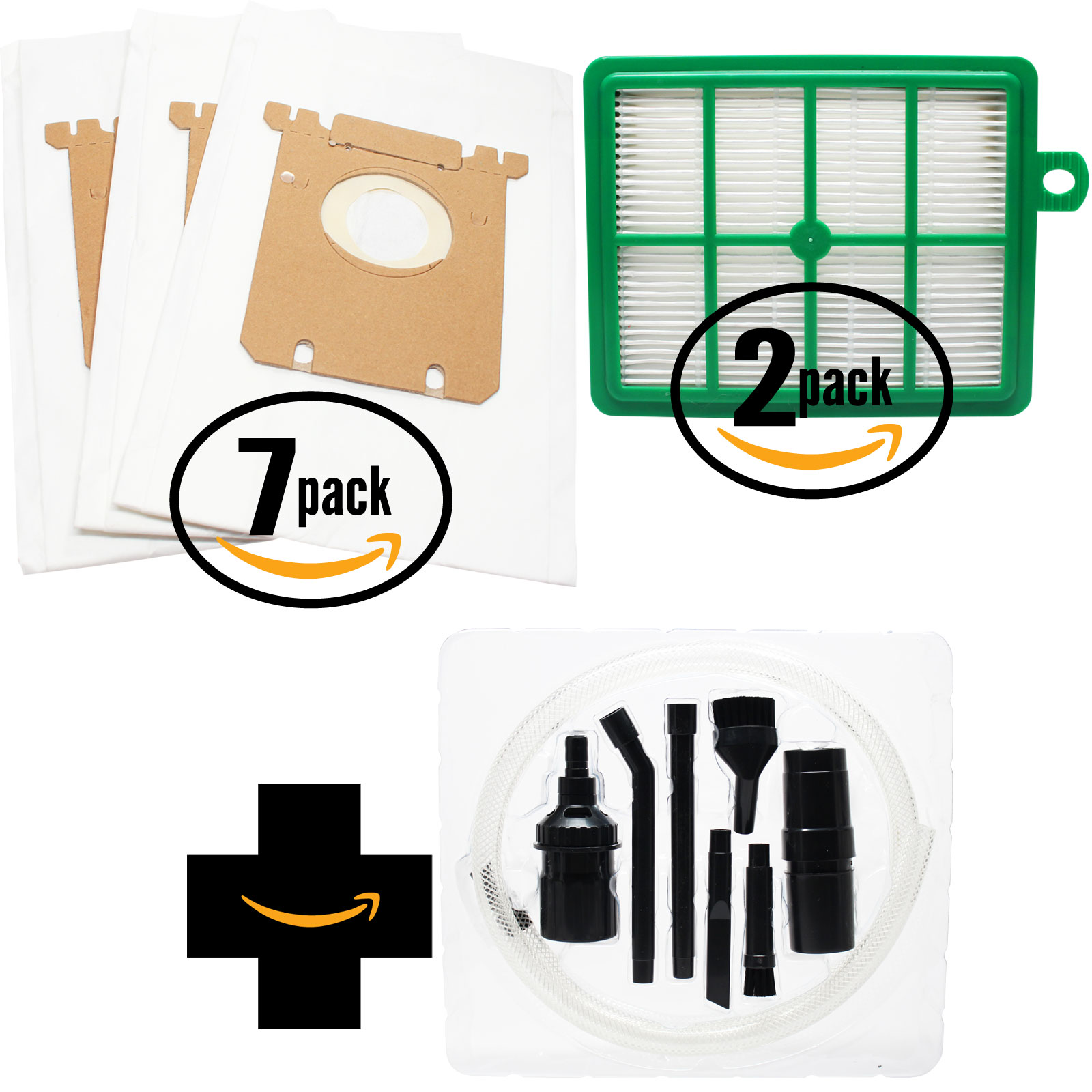 21 Replacement Electrolux EL6988A Vacuum Bags & 2 Filter with 7-Piece Micro Vacuum Attachment Kit - Compatible Electrolux S-Bag Vacuum Bag & EL012B Filter - image 4 of 4